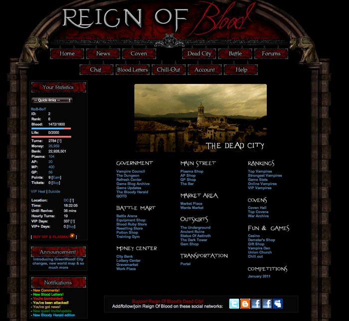free online vampire games